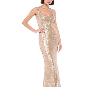 NEW Dress the Population Sequin Evening Gown